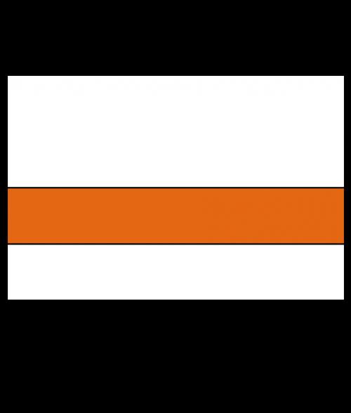 "Rowmark Satins White/Orange 1/16"" Engraving Plastic"