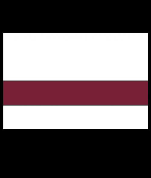 "Rowmark Satins White/Burgundy 1/16"" Engraving Plastic"