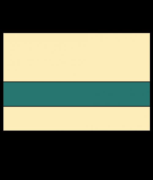 "Rowmark Satins Ivory/Pine Green 1/16"" Engraving Plastic"