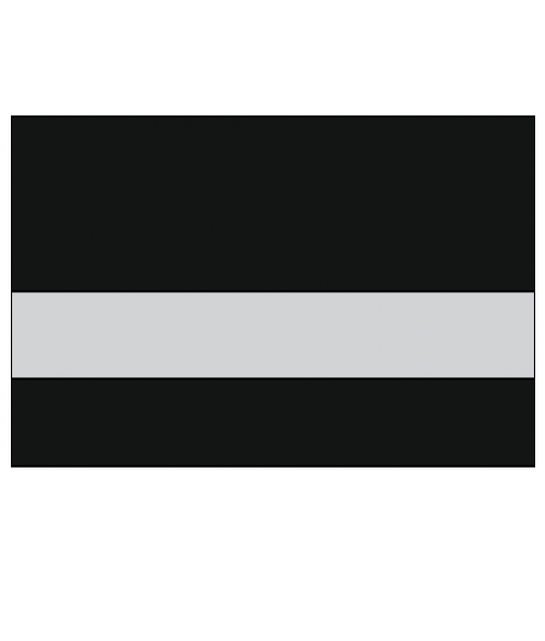 "Rowmark Satins Black/Silver 1/16"" Engraving Plastic"