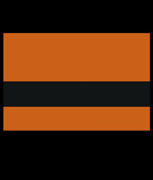 "Rowmark Satins Orange/Black 1/16"" Engraving Plastic"