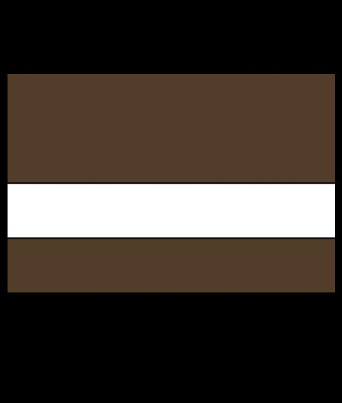 "Rowmark Satins Medium Brown/White 1/16"" Engraving Plastic"