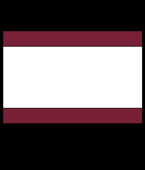 "Rowmark Satins Burgundy/White/Burgundy 1/8"" Engraving Plastic"