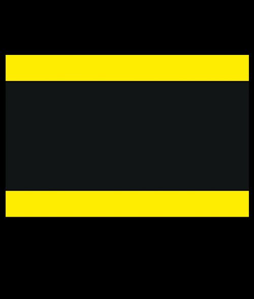 "Rowmark Satins Yellow/Black/Yellow 1/8"" Engraving Plastic"