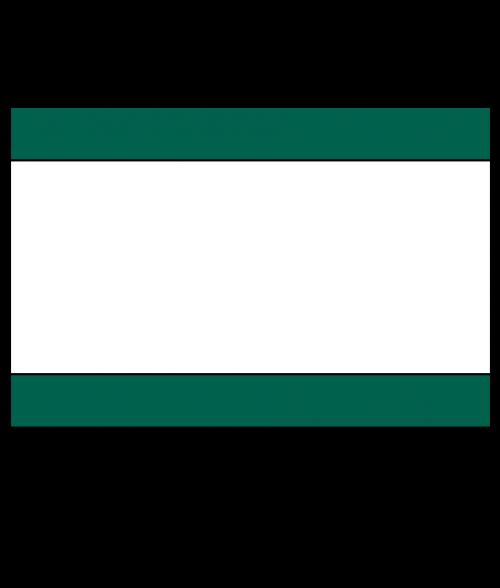 "Rowmark Satins Pine Green/White/Pine Green 1/8"" Engraving Plastic"