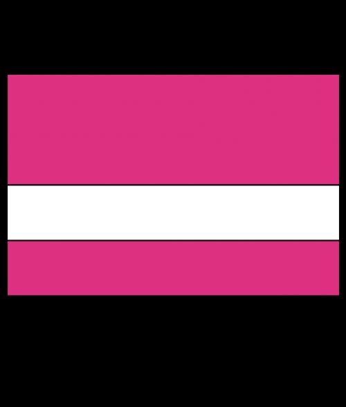 "Rowmark Mattes Ribbon Pink/White 1/16"" Engraving Plastic"