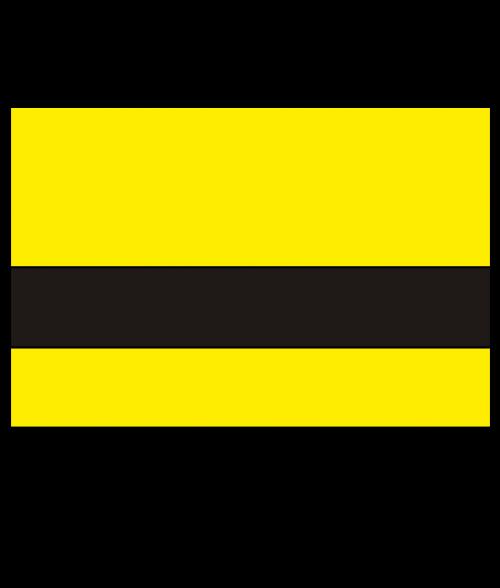 "Rowmark Value Mattes Yellow/Black 1/16"" Engraving Plastic"