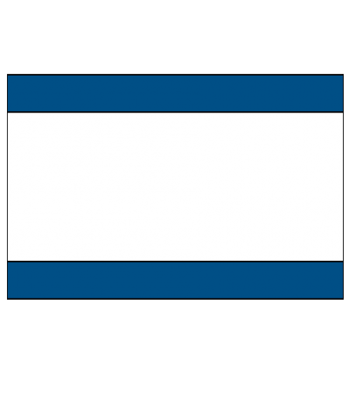"Rowmark Mattes Blue/White/Blue 1/8"" Engraving Plastic"