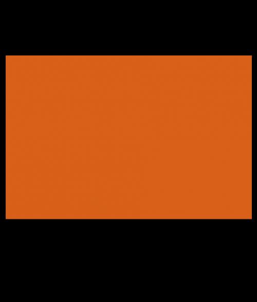 "Rowmark ADA Alternative Orange 1/32"" Engraving Plastic with Adhesive"