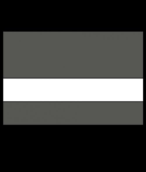 "Rowmark Ultra-Mattes Cinder/White 1/16"" Engraving Plastic"