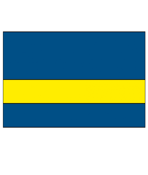 "Rowmark Ultra-Mattes Blue/Yellow 1/16"" Engraving Plastic"