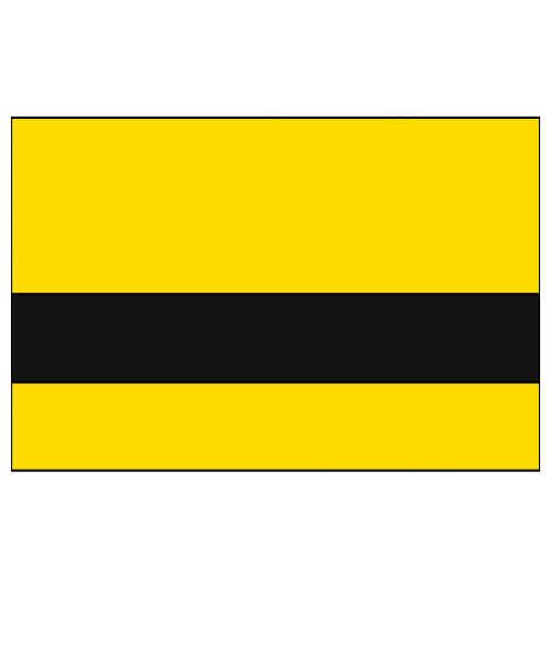 "Rowmark Ultra-Mattes Safety Yellow/Black 1/16"" Engraving Plastic"
