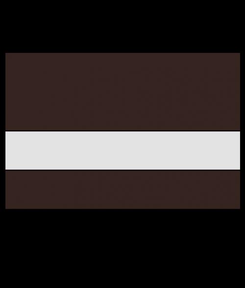 "Rowmark Ultra-Matte Reverse Clear/Dark Brown 1/16"" Engraving Plastic"