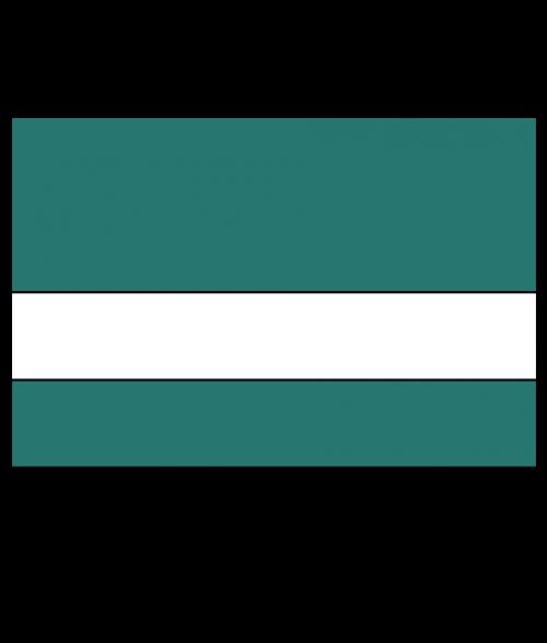 "Rowmark Ultra-Mattes Celadon Green/White 1/16"" Engraving Plastic"