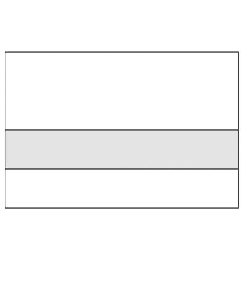 "Rowmark Ultra-Matte Reverse Clear/White 1/8"" Engraving Plastic"
