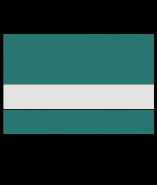 "Rowmark Ultra-Matte Reverse Clear/Celadon Green 1/8"" Engraving Plastic"