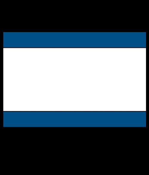 "Rowmark Ultra-Mattes Blue/White/Blue 1/8"" Engraving Plastic"