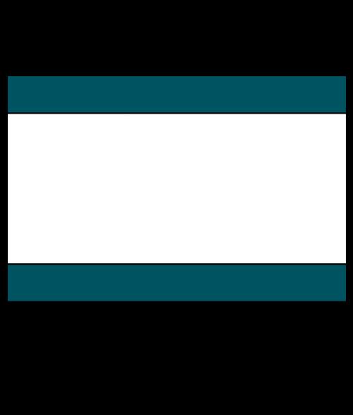 """Rowmark Ultra-Mattes Ocean Blue/White/Ocean Blue 1/8"""" Engraving Plastic"""