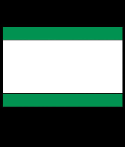 "Rowmark Ultra-Mattes Bright Green/White/Bright Green 1/8"" Engraving Plastic"