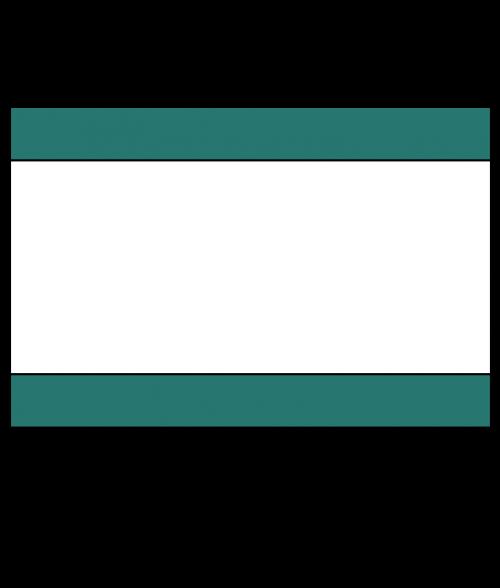 "Rowmark Ultra-Mattes Celadon Green/White/Celadon Green 1/8"" Engraving Plastic"