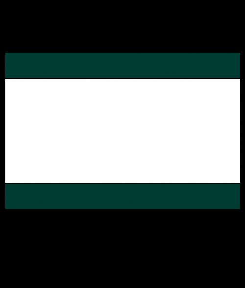 """Rowmark Ultra-Mattes Hunter Green/White/Hunter Green 1/8"""" Engraving Plastic"""