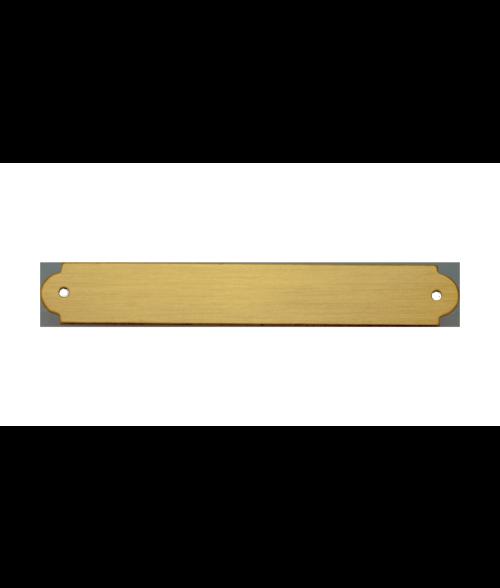 "Satin Gold 3/8"" x 2-1/2"" Brass Decorative Plaque Plate"