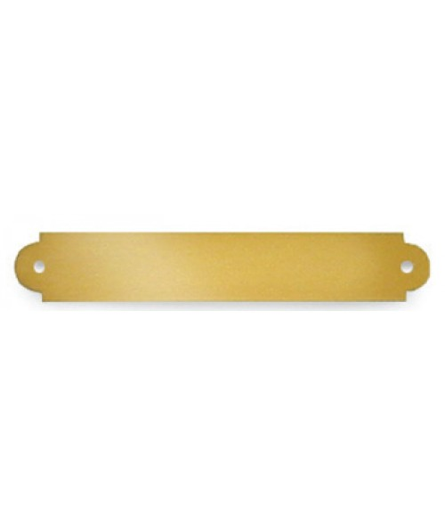 "Satin Gold .5"" x 3"" Brass Decorative Plaque Plate"