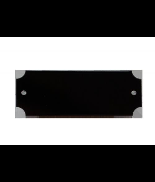 "Black 7/8"" x 2-1/2"" Brass Decorative Plaque Plate"