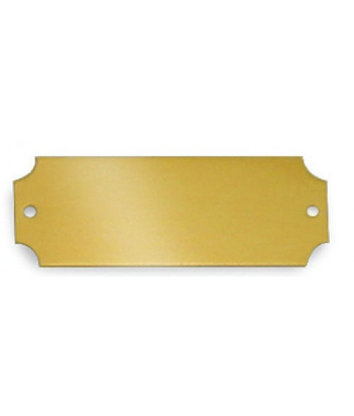 "Satin Gold .875"" x 2.5"" Brass Decorative Plaque Plate"