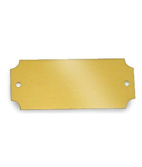 "Satin Gold 1"" x 2.5"" Brass Decorative Plaque Plate"