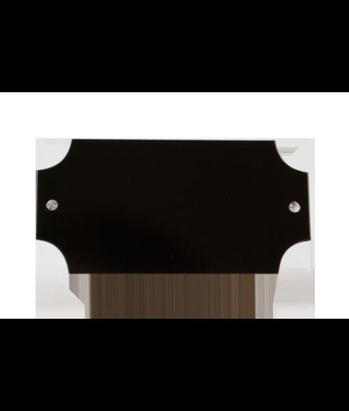 """Black 1.25"""" x 2.5"""" Lacquered Aluminum Decorative Plaque Plate"""