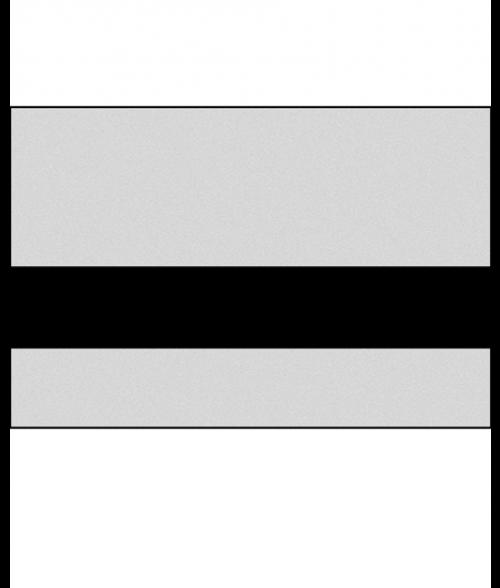 "Rowmark Metals Smooth Silver/Black 1/32"" Engraving Plastic"