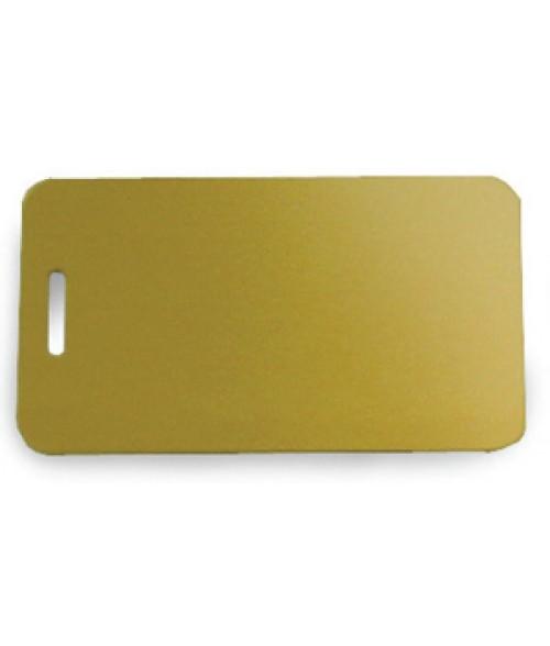 "Satin Gold 2"" x 3.5"" Brass Luggage Tag"
