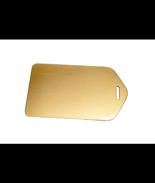 "Satin Gold 2.5"" X 4.5"" Brass Luggage Tag"