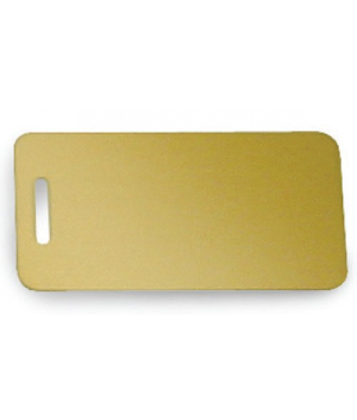 "Satin Gold 1.5"" x 3"" Brass Luggage Tag"