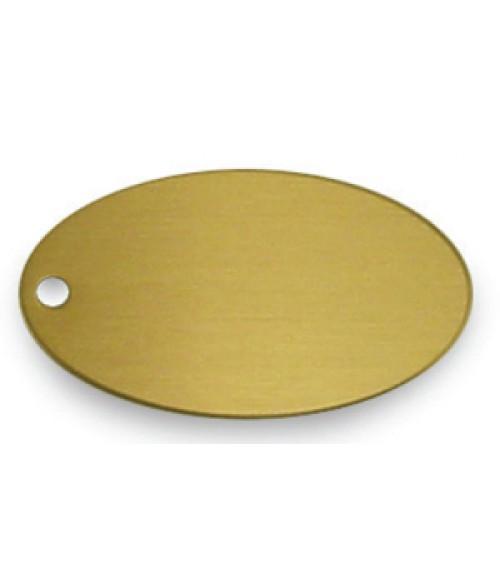 "Satin Gold 1.375"" x 2.5"" Brass Oval"