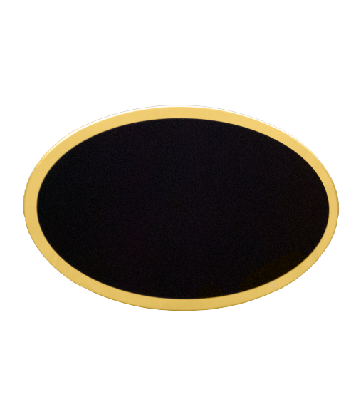 "Gloss Black 1-11/16"" x 2-9/16"" Badge Blank"