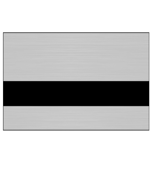 "Rowmark Metals Brushed Silver/Black 1/8"" Engraving Plastic"