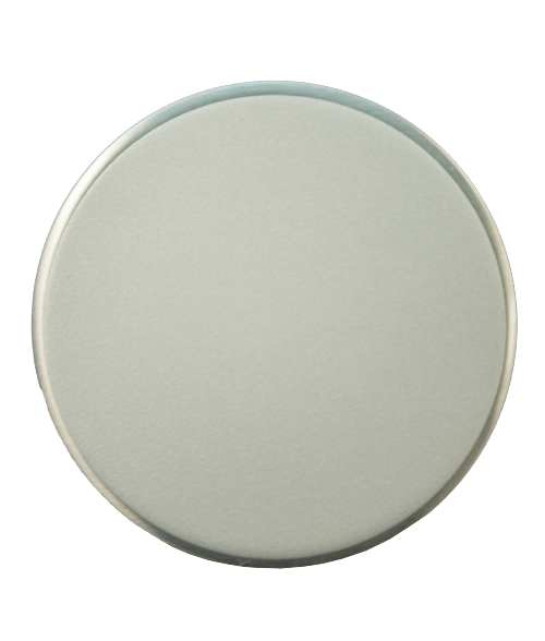 """LaserFrost Silver 2.5"""" Circle with Adhesive"""