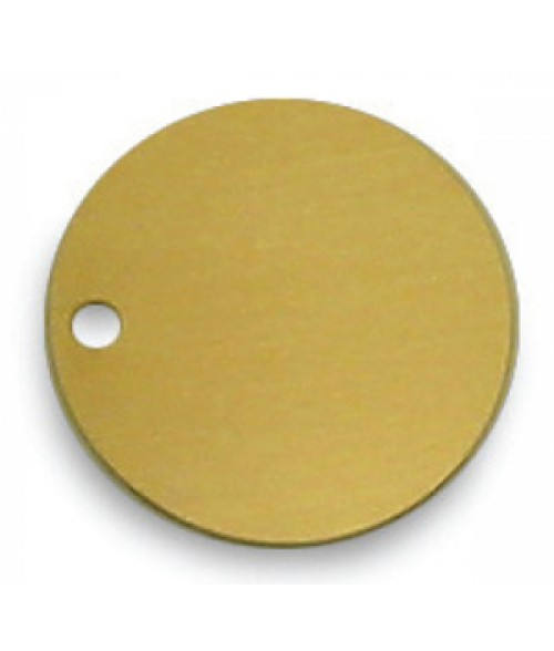 "Satin Gold 1.5"" .020"" Brass Circle"