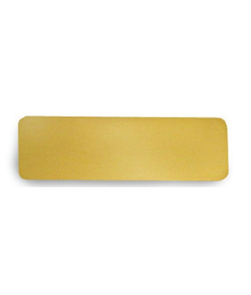 "Satin Gold .875"" x 2.75"" Brass Badge Blank"