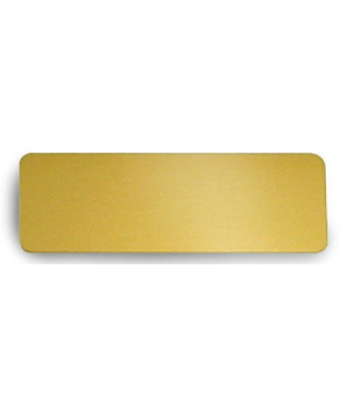 "Satin Gold 1"" x 3"" Brass Badge Blank"