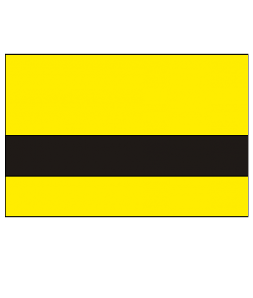 "Rowmark FlexiColor Yellow/Black .020"" Engraving Plastic"