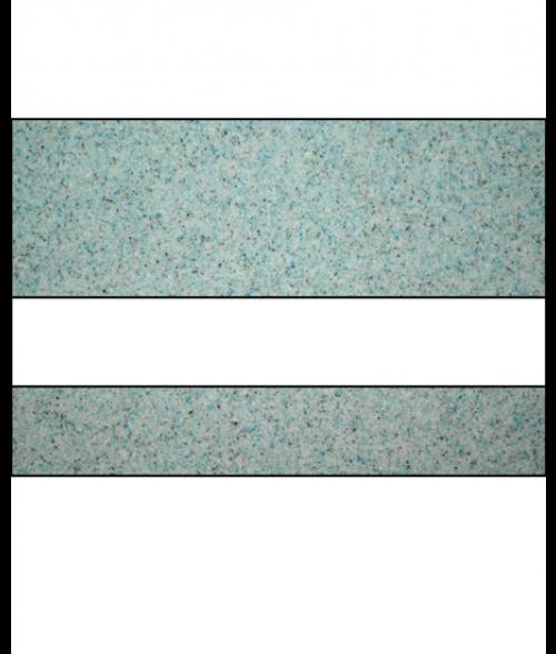 "Rowmark Granites Deluxe Matte Glacial Blue/White 1/8"" Engraving Plastic"