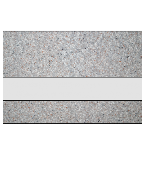 "Rowmark Granites Deluxe Matte Clear/Sandstone 1/8"" Reverse Engraving Plastic"