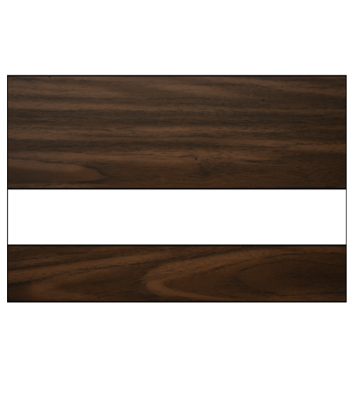 "Rowmark LaserMark Gloss Black Walnut/White .052"" Engraving Plastic"