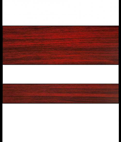"Rowmark LaserMark Gloss Cherry/White .052"" Engraving Plastic"