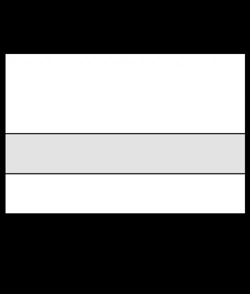 "Rowmark LaserMark Reverse Matte Clear/White 1/16"" Engraving Plastic"