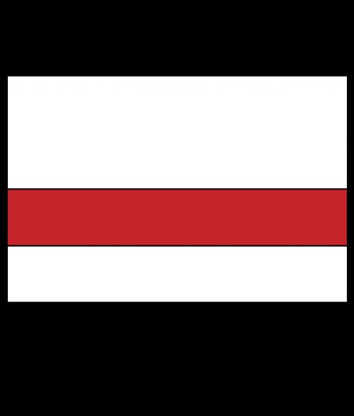 """Rowmark LaserMark Matte White/Red .052"""" Engraving Plastic"""