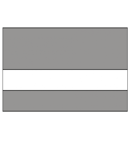 "Rowmark LaserMark Matte Grey/White .052"" Engraving Plastic"